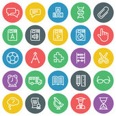 Vector icons set. For web site design and mobile apps.  — Stockvektor
