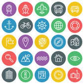 Vector icons set. For web site design and mobile apps.  — Stock vektor