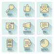 Business infographics vector icons. Social media concept. — Stock Vector #51387501