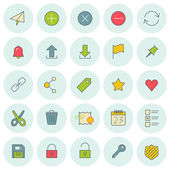 Vector icons set. For web site design and mobile apps.  — Stock Vector