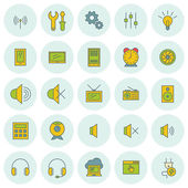 Vector icons set. For web site design and mobile apps.  — Stockvector
