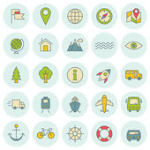 Vector icons set. For web site design and mobile apps.  — Stok Vektör