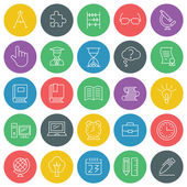 School and education vector icons set. For web site design and mobile apps.  — Stock Vector