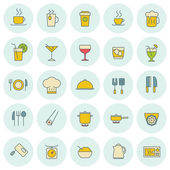 Vector food icons set. For web site design and mobile apps.  — Stockvector