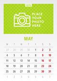 Kalendář 2015 vektorové šablona první den týdne pondělí — Stock vektor