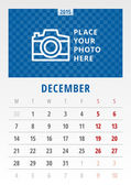 Calendar 2015 vector template week starts monday — Cтоковый вектор