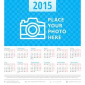 Calendar 2015 vector template week starts monday — Stock Vector