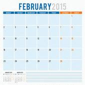 Calendar planner 2015 template week starts monday — Stock Vector