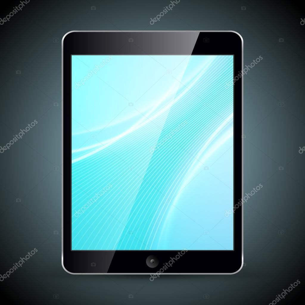 Tablet pc con fondos aislados sobre fondo oscuro vector for Fondos para tablet