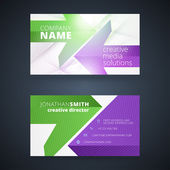 Creative business card vector design print template — Stok Vektör