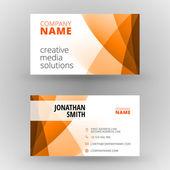 Creative business card vector design print template — Vector de stock