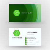 Creative business card vector design print template — Vetorial Stock
