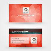 Creative business card vector design print template — Stockvektor