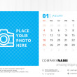 Desk calendar 2015 vector template week starts sunday — Stock Vector #51664327