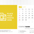 Desk calendar 2015 vector template week starts sunday — Stock Vector #51664357