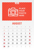 Kalendář 2015 vektorové šablona den týdne neděle — Stock vektor