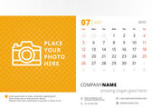 Desk calendar 2015 vector template week starts sunday — Stock Vector