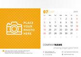 Desk calendar 2015 vector template week starts sunday — Stock Vector