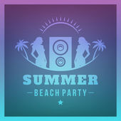 Summer holidays Beach Party poster vector background — Stock Vector