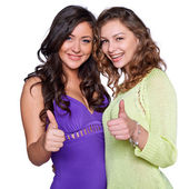 Two smiling girls — Stock Photo