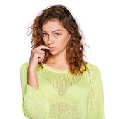 Young cranky woman — Stock Photo