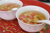 Chinês tradicional casamento cerimônia chá talheres e servir — Fotografia Stock