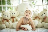 Baby Wearing Bear Hat — Stock Photo