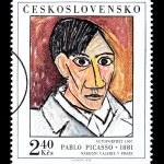 Pablo Picasso Postage Stamp — Stock Photo #46564879