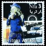 Постер, плакат: Madonna Postage Stamp