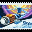 Space Sky Lab Postage Stamp — Stock Photo #46569859