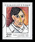 Pablo Picasso Postage Stamp — Stock Photo