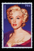 Marilyn Monroe Postage Stamp — Stock Photo