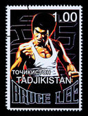Bruce Lee Postage Stamp — Stockfoto