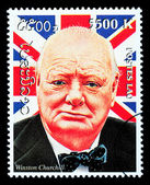 Winston Churchill Postage Stamp — Стоковое фото