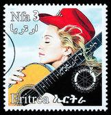 Madonna Postage Stamp — Stock Photo