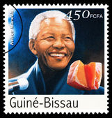 Nelson Mandela Postage Stamp — Stock Photo