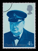 Winston Churchill Postage Stamp — Stock fotografie