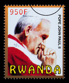 Pope John Paul Postage Stamp — Stock Photo