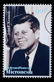 John F. Kennedy Postage Stamp — Stock Photo
