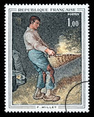 Jean-François Millet Postage Stamp — Stock Photo