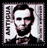 Abraham Lincoln Postage Stamp — Stock Photo