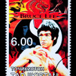 Bruce Lee Postage Stamp — Stock Photo