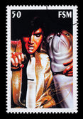 Elvis Presley Postage Stamp — Stock Photo