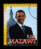 Barack Obama Postage Stamp — Stock Photo