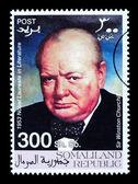 Winston Churchill Postage Stamp — Stock Photo
