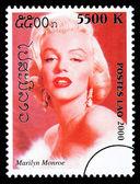 Marilyn Monroe Postage Stamp — Stock Photo