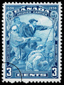 Jacques Cartier Postage Stamp — Stock Photo