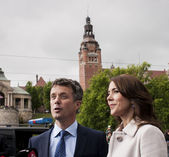 Crown Prince Frederik of Denmark and Princess Mary — Stock Photo