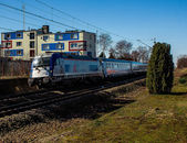 Express train Warsaw-Berlin at full speed — Stock Photo