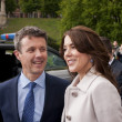 Постер, плакат: Denmark Prince Frederik and Princess Mary visit Polan